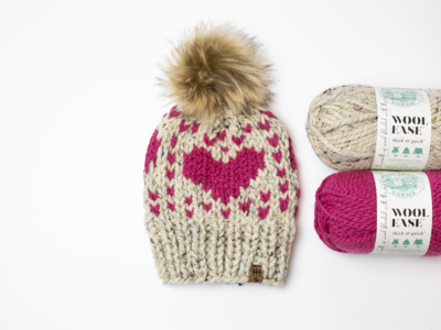 Hearts For Days Winter Toque Hat