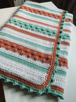The Candy Clouds Baby Blanket