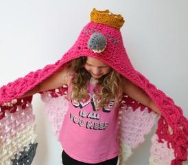 Hooded Flamingo Blanket