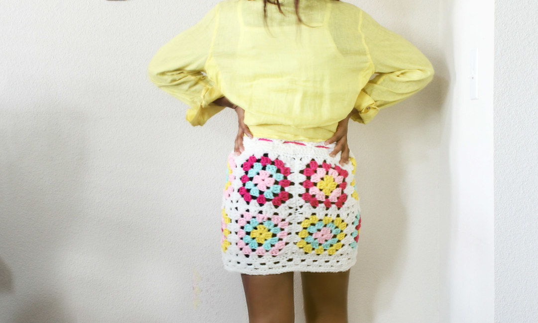 The New Granny Crochet Square Skirt