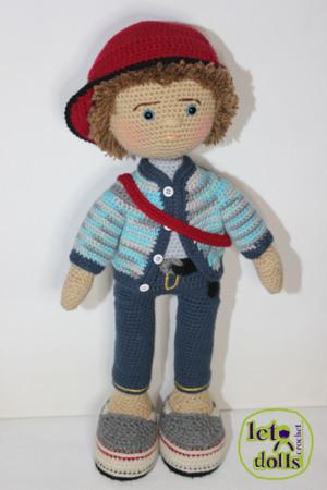 Alex Large Crochet Doll