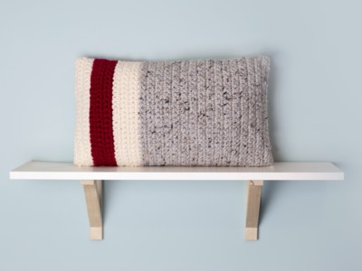 Classic Red Stripe Pillow