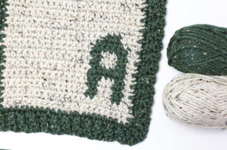 Little Initial Chunky Baby Blanket Lovey