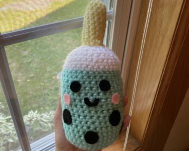 Crochet boba plush