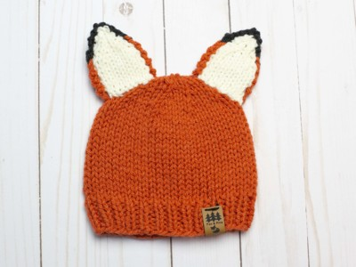Fox Ears Worsted Weight Hat