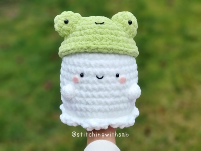Ghost with Frog Hat