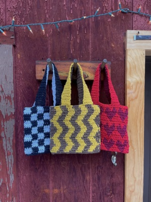 Mini Patterned Tote Bags