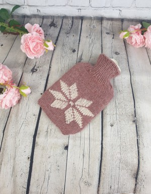 the snowflake hot water bottle cover