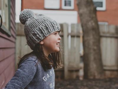 Solid Winter Pompom Hat