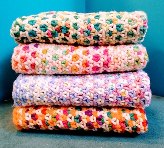 Linen Stitch Washcloths