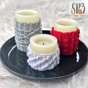 Cabled Candle Wraps