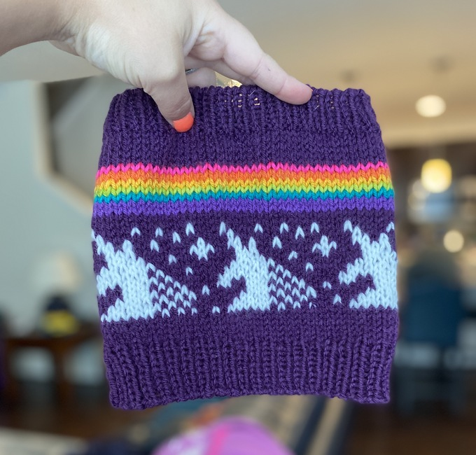 Last Unicorn Hat Cowl only: Knitting pattern   Ribblr