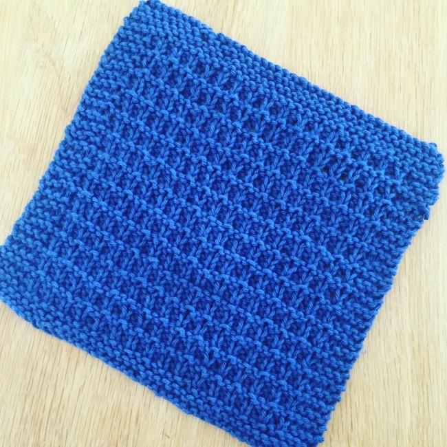 Hurdle Stitch Dishcloth