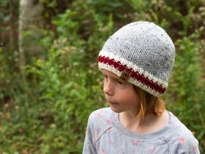 Red Stripe Sock Monkey Worsted Weight Hat