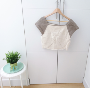 Over-sized Hexagonal Crop Top