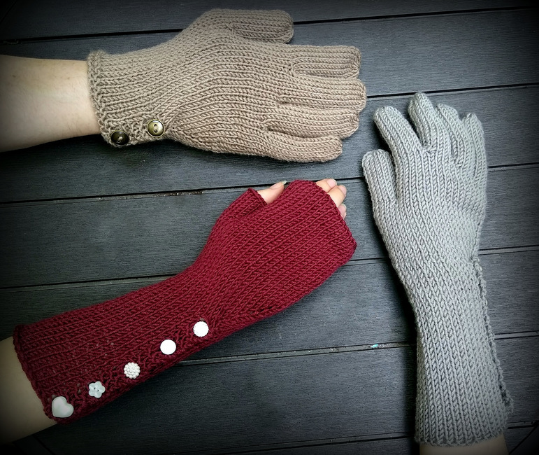 Long Buttoned Gloves
