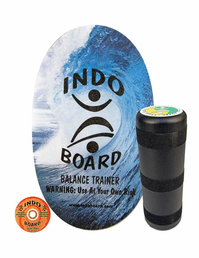 """INDO BOARD Original - Balance Board for Fun, Fitness and Sports Training - Comes with 30"""" X 18"""" Non-Slip Deck and a 6.5"""" Roller - 10 Color Choices"""
