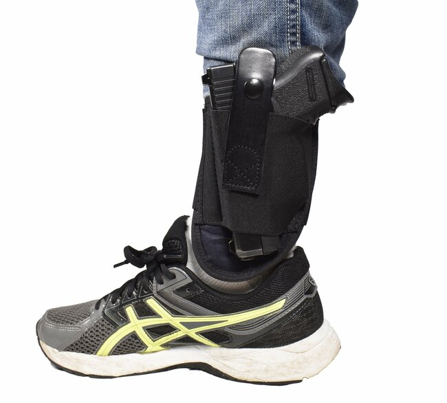 BLUESTONE Undercover Ankle Holster, Fits Snub nose Revolvers, Glock 26,Glock 27,Glock 30, Glock 42, Glock 43, S&W Shield,Sig P239, and Similar Sized Weapons and a wide variety of different handguns. Sheepskin lined