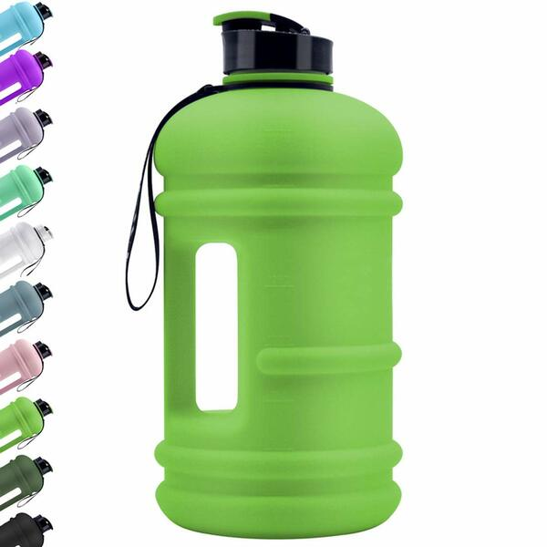 Large Sports 2.2L Water Jug Big Reusable Water Bottle 75oz Half Gallon Hydro Container Canteen BPA Free Leak-Proof for Gym Fitness Athletic