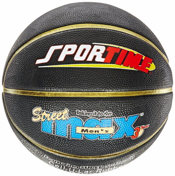Sportime Junior StreetMax Basketball, 27-1/2 Inches, Black