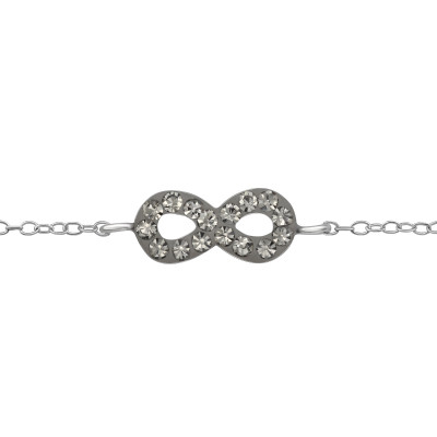 Children's Silver Infinity Bracelet with Crystal