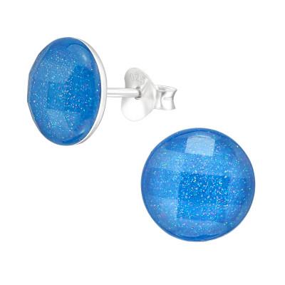 Children's Silver Round Ear Studs