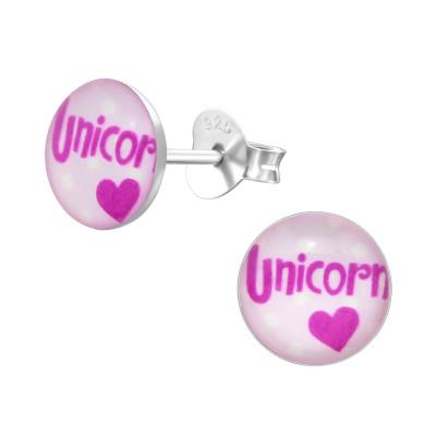 Children's Silver Unicorn Ear Studs