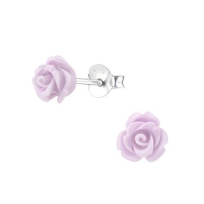 Children's Silver Rose Ear Studs