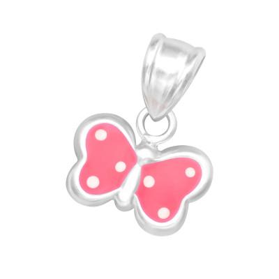 Children's Silver Butterfly Pendant