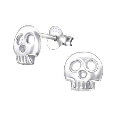 Children's Silver Skull Ear Studs