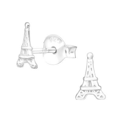 Children's Silver Eiffel Ear Studs