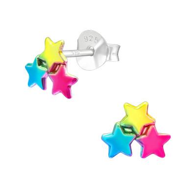 Children's Silver Star Ear Studs