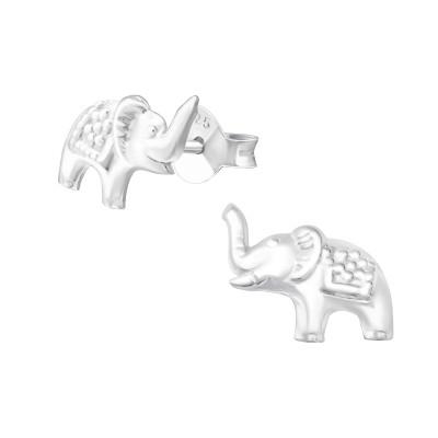 Children's Silver Elephant Ear Studs