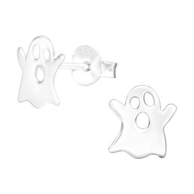 Children's Silver Ghost Ear Studs