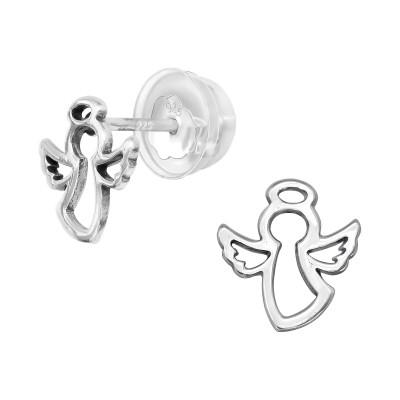 Premium Children's Silver Angel Ear Studs