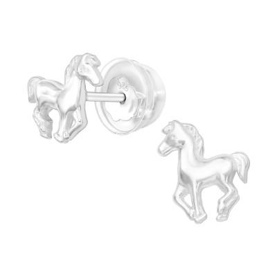 Premium Children's Silver Horse Ear Studs