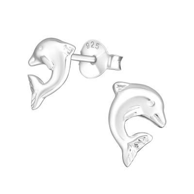 Children's Silver Dolphin Ear Studs