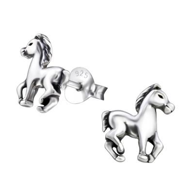 Children's Silver Horse Ear Studs