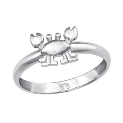 Children's Silver Crab Ring