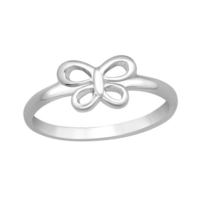 Children's Silver Butterfly Ring