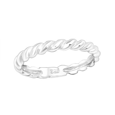 Children's Silver Rope Ring