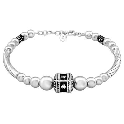 Silver Bali Bracelet