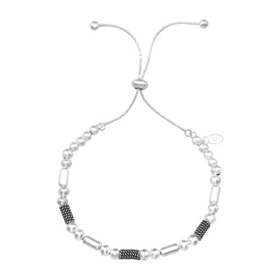 Silver Bali Adjustable Bracelet