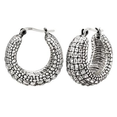 Silver Vintage Ear Hoops