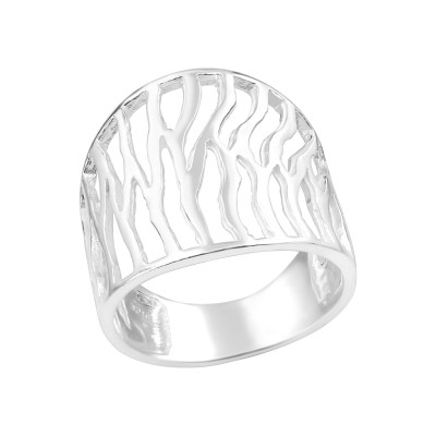 Silver Patterned Ring