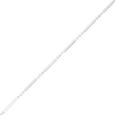 46cm Silver Bar Chain
