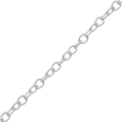 45cm Silver Cable Chain Necklace