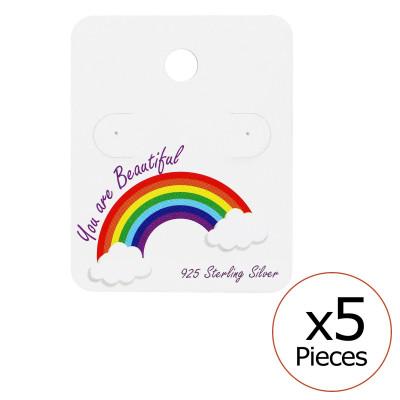 Rainbow Ear Studs Cards