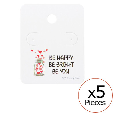 Motivational Quote Ear Stud Cards
