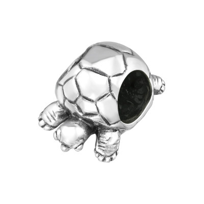 Silver Turtle Bead